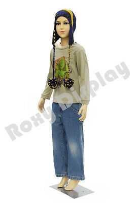 Child Plastic Realistic Mannequin Dress Form Display Ps-d1d02free Wig