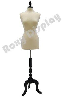 High Quality Size 6-8 Female Mannequin Dress Form Fwp-wbs-atq-bk Black Base