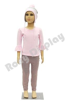 Child Plastic Realistic Mannequin Dress Form Display Ps-d2d02free Wig