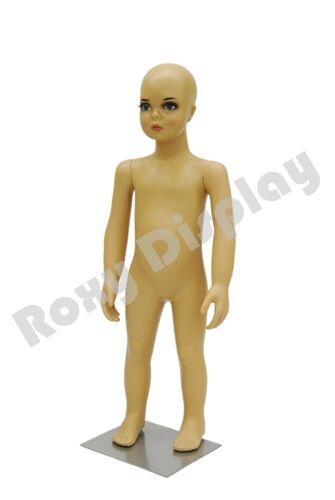 Child Plastic Realistic Mannequin Dress Form Display PSKD1FREE Wig