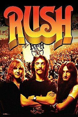 RUSH - GROUP MUSIC POSTER - 24 x 36 ROCK BAND GEDDY LEE 3271