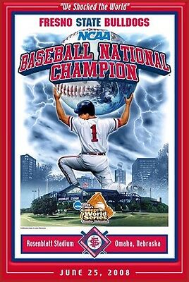 - Fresno State Bulldogs SHOCKED THE WORLD 2008 College World Series Champs POSTER