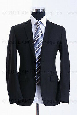 Male Half Body Mannequin Dress Form Stand2 Jerseys Whiteblack Torso-hmh-102
