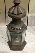 Antique Brass Kerosene Lamp