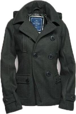 SURPLUS LADIES PEA COAT  Damen Mantel Kurzjacke abnehmbare Kapuze Größe M