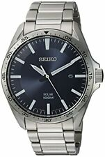 Seiko Men's Sport Watches Quartz Stainless Steel Dress Silver-Toned SNE483