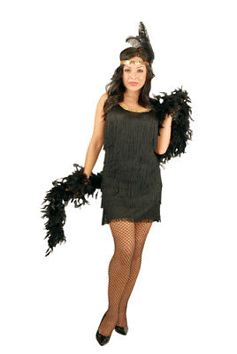 Fashion Flapper Girl Black Plus Size Costume