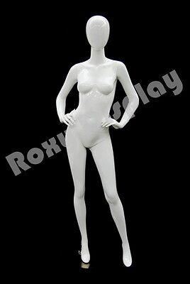 Female Highend Fiberglass Egg Head Mannequin Display Dress Form Md-a4w1-s