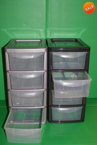4 drawer storage ebay. Black Bedroom Furniture Sets. Home Design Ideas