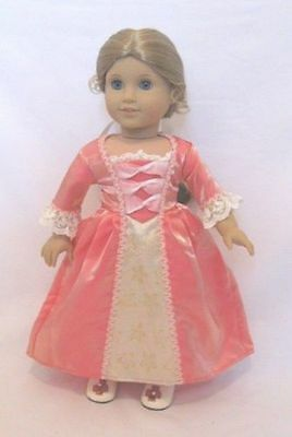 Colonial Meet Dress Gown Doll Clothes  For 18