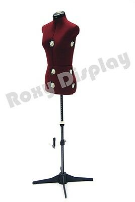 Female Mannequin Adjustable Sewing Dress Form Torso Stand Small Size #JF-FH-2