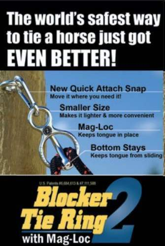 BLOCKER TIE RING   W/MAG-LOC    CHROME
