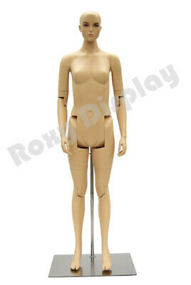 Female Mannequin Dress Form Display With Flexible Head Arms And Legs Mz-fm02--s