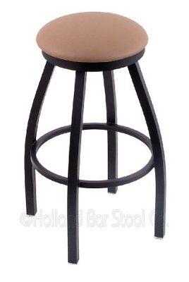 """Holland Bar Stool Co. 802 Misha 36"""" Bar Stool with Black Wrinkle Finish, Natu..."""