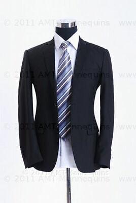 Male Mannequin Torso Adjustable Metal Stand Half Body Black Torso Pb-blk102