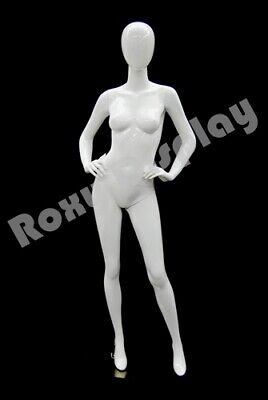 Fiberglass Female Mannequin Egghead Style Dress Form Display Md-a4w1--s