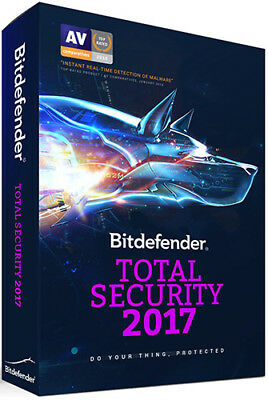Bitdefender Total Security   5-Devices   3 Years   Instant 2018 Update