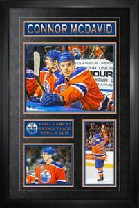 Connor McDavid Framed Edmonton Oilers Final Game at Rexall Place