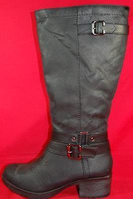 Women's  SODA CINDY Black Knee High Tall Zipper Heels Casual Dress Boots New