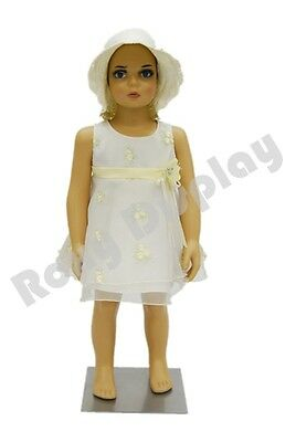 Child Plastic Realistic Mannequin Dress Form Display Ps-kd-1free Wig