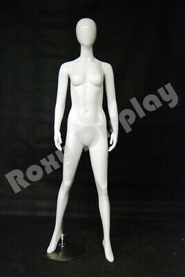 High Glossy White Female Mannequin Dress Form Display Md-gf11w--s