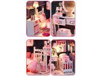 Handcraft Wooden Pink Dolls House (Pretty Princess Room) Xmas/Birthday Present..