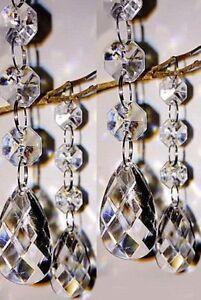 30 Wedding Centrepieces Table Decoration Wishing Manzanita Tree Hanging Crystal