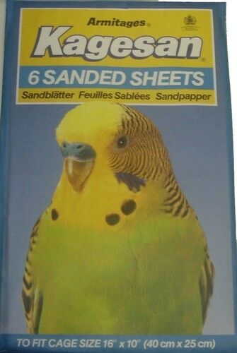 "BIRD CAGE SANDPAPER 6 SHEETS 16"" X 10"""