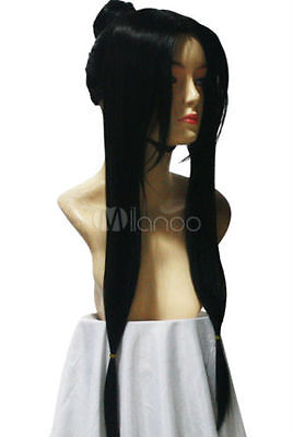 New Style Fashion Straight Long Black Haku Cosplay Wig Chic Character - Black Female Cosplay Characters