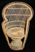Wicker Fan Back Chair