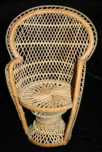 Wicker Fan Back Chair Ebay
