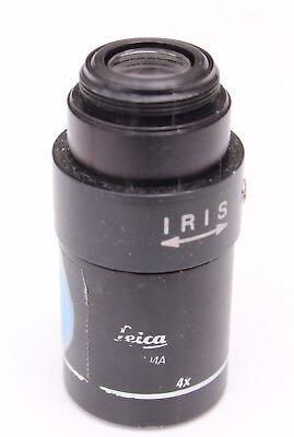 Leica 4x 0.10 - Plan Achro Iris Macro Microscope Objective Rms K2704a