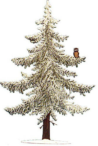 "WILHELM SCHWEIZER GERMAN ZINNFIGUREN Large Pine with Owl (4"" x 5.5"")"