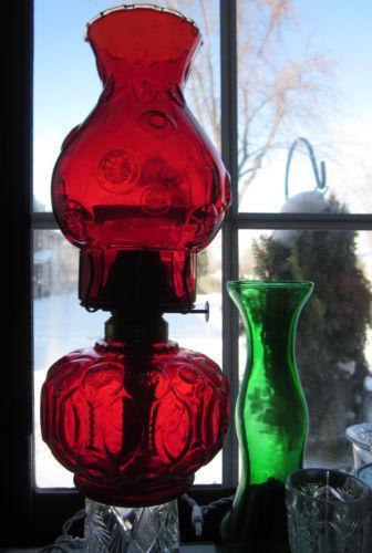 Eagle Oil Lamp Red Ebay