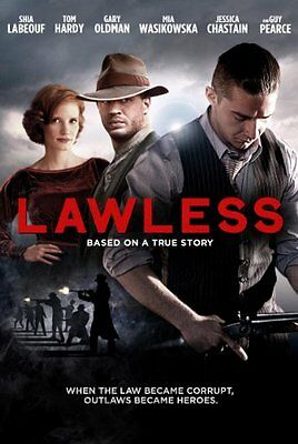 Lawless Tom Hardy  Shia Labeouf  John Hillcoat Rated R Dvd Format
