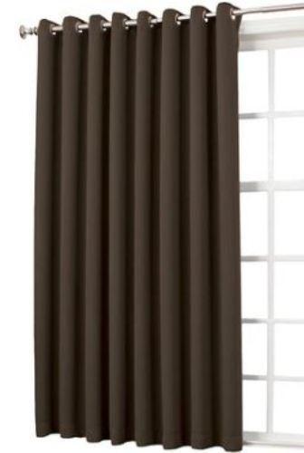 "Sun Zero Gramercy Room Darkening Curtain Panel 54""X84"" Choc"