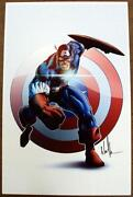 Captain America Lithograph