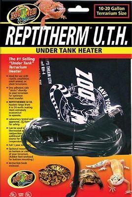 Zoo Med Repti Therm UTH Under Tank Heater RH-4 Reptile Heat Pad Mat 10-20 gallon