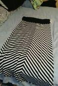 Plus Size Black and White Skirt