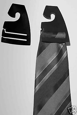 200 Black Tie Hangers Hooks Clips Retail Store Supplies