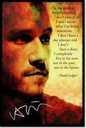Heath Ledger Signed