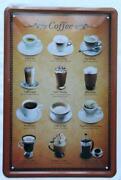 Blechschild Kaffee