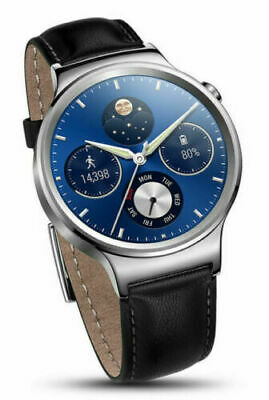 Huawei Watch W1 Classic Stainless Steel Android Wear Smartwatch (Leather Strap)