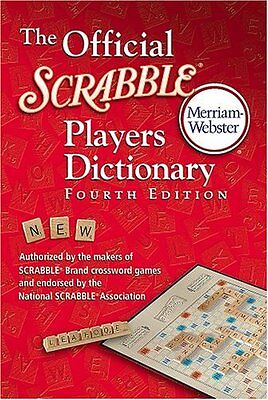 The Official Scrabble Players Dictionary By Merriam Webster