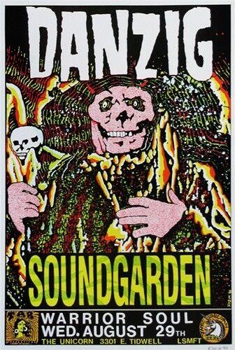 Danzig POSTER Soundgarden Chris Cornell Warrior Soul Signed by Frank Kozik