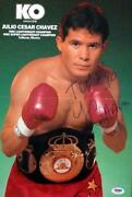Julio Cesar Chavez Signed