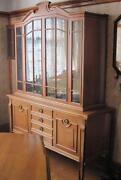 Beech Display Cabinet