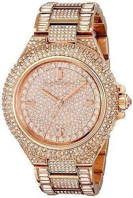 NEW Michael Kors MK5862 Camille Rose Gold Tone Pave Glitz Ladies Watch