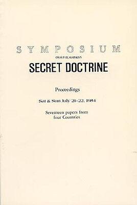 1984 SYMPOSIUM Blavatsky Secret Doctrine 17 occult papers