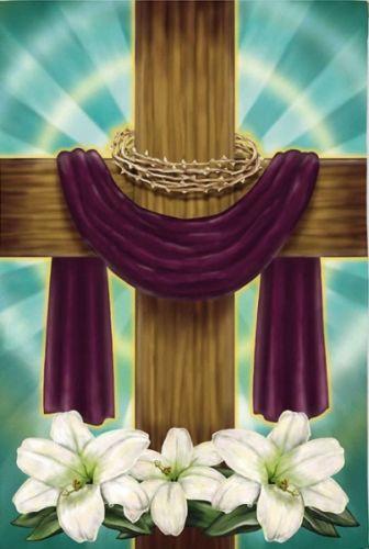 Easter Cross Flag Ebay